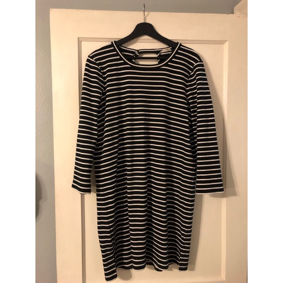 Madewell Dresses & Skirts - Madewell size XL stripped black and white dress